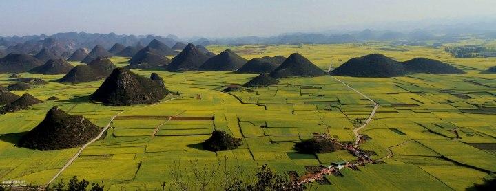 罗平金鸡峰丛(好比我们桂林的山)