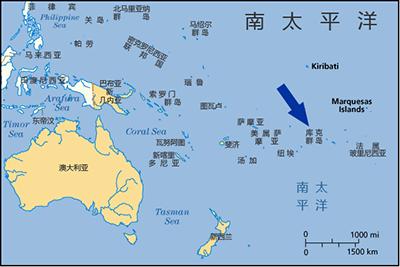 库克群岛地图